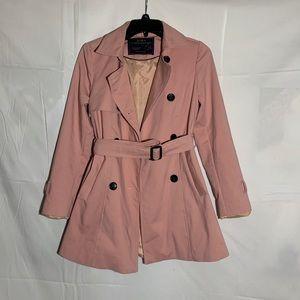 Pink Zara Outerwear Pea coat